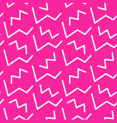 memphis style seamless pattern banner template vector image