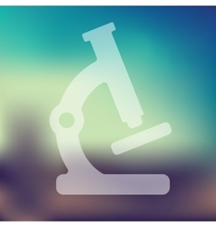 microscope icon on blurred background vector image