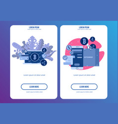 Mobile phone payment icon in flat style the vector