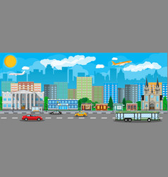 modern city view public transportation system vector image