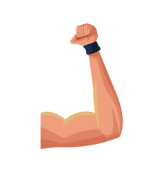 muscular arm icon vector image
