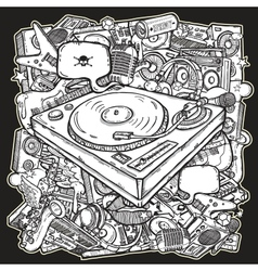 Music mix background vector image