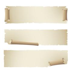 old papper ribbon banner vector image