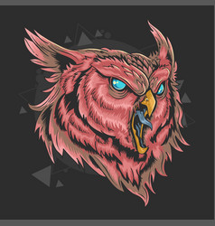 Owl head artwork with editable layers vector