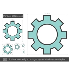 Payment options line icon vector