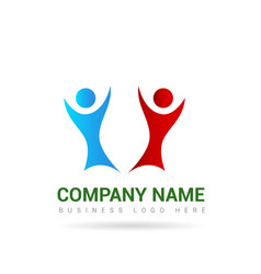 people logo 2 vector image