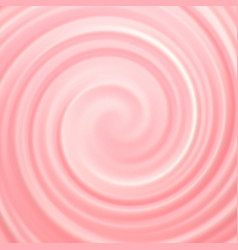 Pink and white cream swirl abstract background vector
