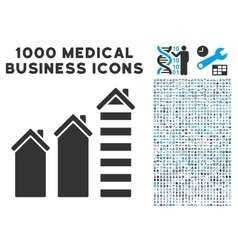 Realty Trend Icon with 1000 Medical Business vector