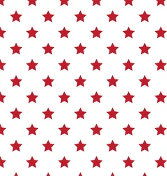 Red Stars Seamless Pattern vector image