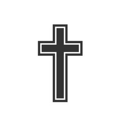 religion christian cross icon flat design vector image