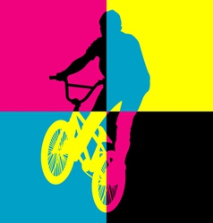 ride bicycle vector image