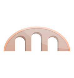 round bridge icon cartoon style vector image