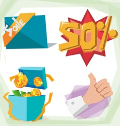 Sale object vector image