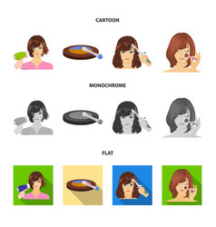 salon care hygiene and other web icon in cartoon vector image