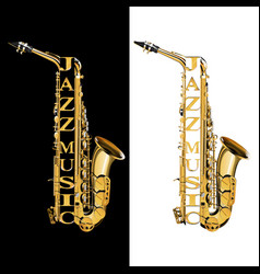 Saxophone in the section vector