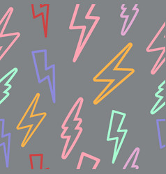 Seamless texture with lightning linear vector
