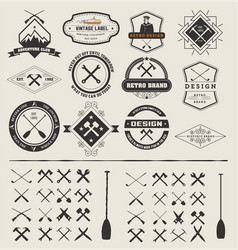 Set logos and icons vector
