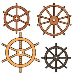 set of helm vector image