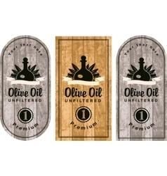 Set of labels for olive oils vector