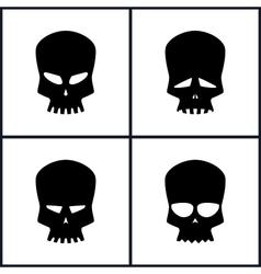 Silhouette Skull Isolated on White vector