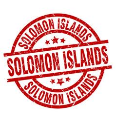 Solomon islands red round grunge stamp vector