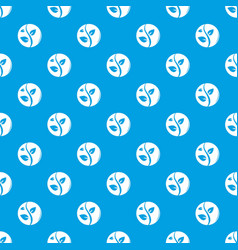 sprout pattern seamless blue vector image
