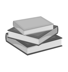 stack of books icon in monochrome style isolated vector image