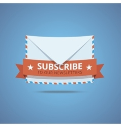 Subscribe to our newsletter vector image