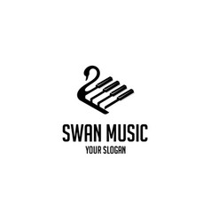 swan music vector image