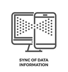 sync data information line icon vector image