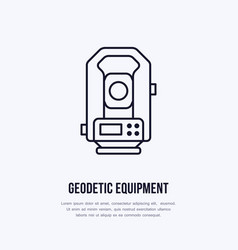 Tacheometer geological survey engineering vector