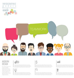 teamwork infographic modern design template vector image