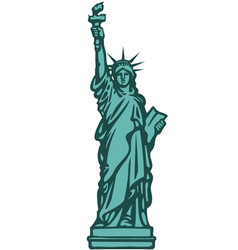 the statue of liberty new york city hand drawn vector image