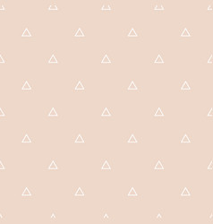 Tile pattern with white triangles on pastel vector