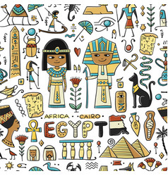 Travel to egypt seamless pattern for your design vector