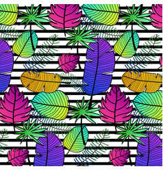 tropical pattern background vector image