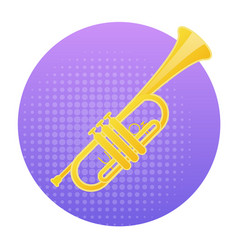 Trumpet icon wind music instrument concept vector