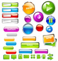 UI buttons vector