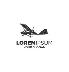 ultralight aircraft silhouette logo vector image