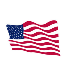 usa waving flag on white background vector image