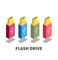 usb flash drive icon symbol vector image