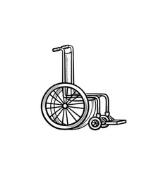 Wheelchair hand drawn outline doodle icon vector