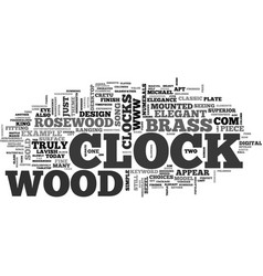 Wood clock text word cloud concept vector