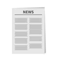 Newspaper icon Flat design Isolated White vector image