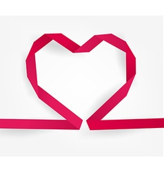 Pink Ribboned Love Heart vector image vector image