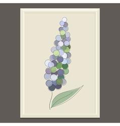 Purple spring flower vector image vector image