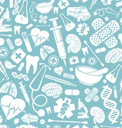 seamless pattern with medical icons vector image vector image