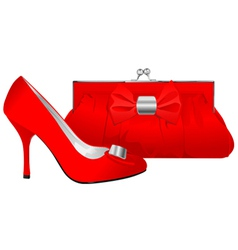 shoe and purse vector image vector image