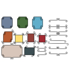 vintage frames and dividers vector image