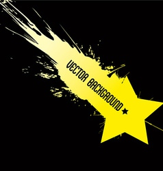 Falling star with background dirty art style vector image